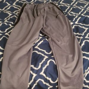 Nike mens gray and black sweatpants in size large